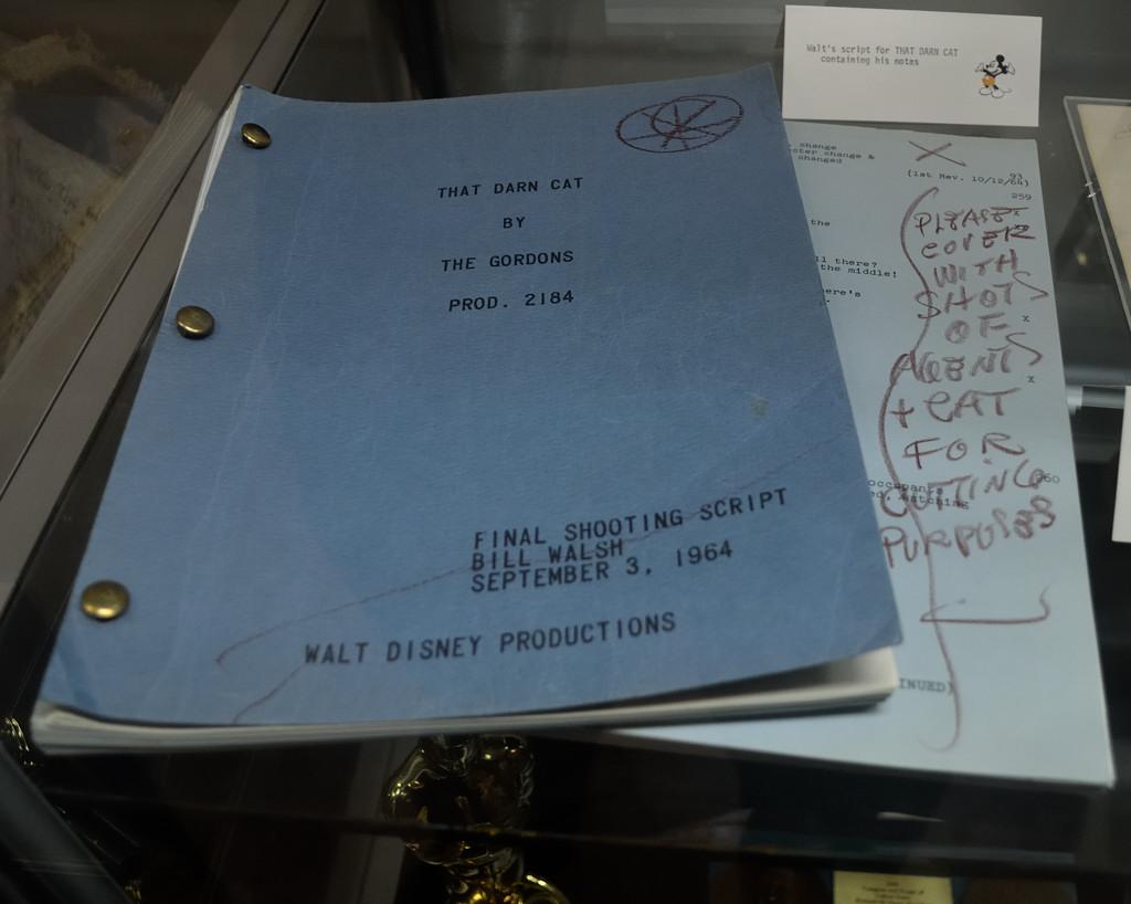 Walt Disney's Script for That Darn Cat (with his handwritt…   Flickr