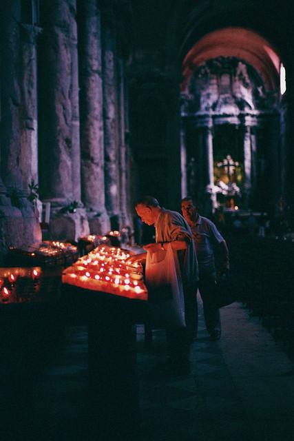 old man candles church