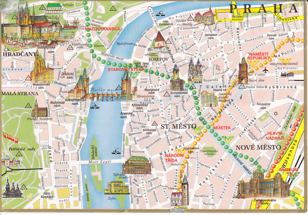 Czech Republic Prague City Map Postcard I Don T Want This