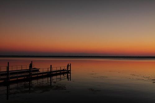 sunset fishing dock florida dusk enterprise lakemonroe boatramp volusiacounty