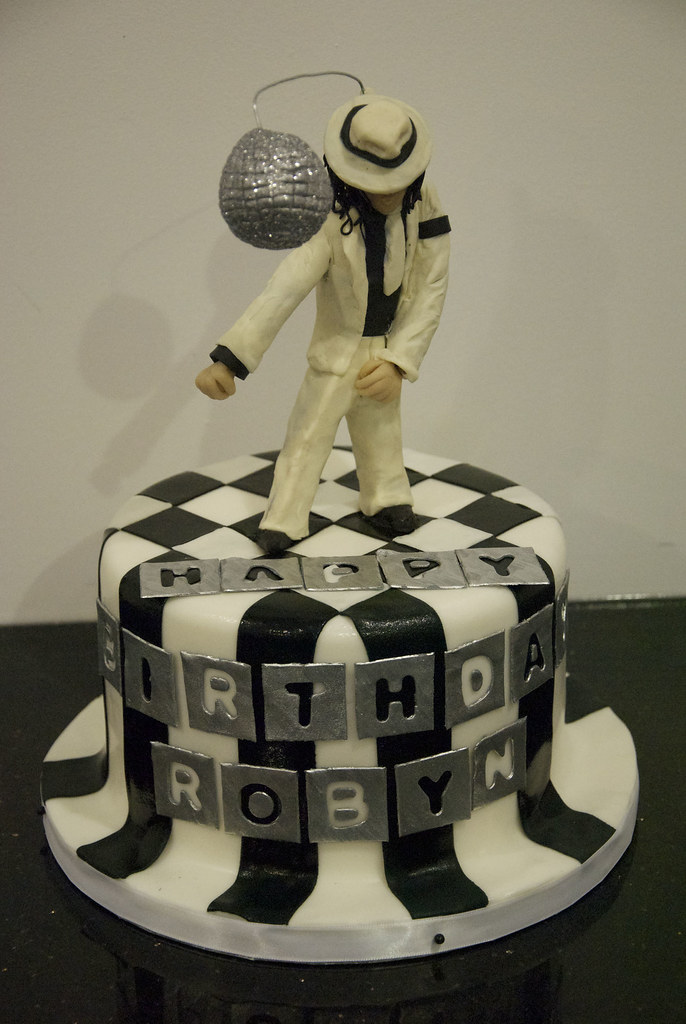 Outstanding Michael Jackson Cake This Michael Jackson Figure Was Hand Flickr Personalised Birthday Cards Cominlily Jamesorg