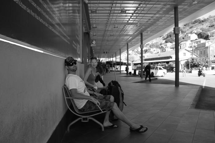 Dubrovnik, Croatia. The bus station.
