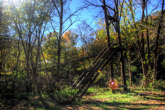 Private footbridge over Spring Creek, Spring Creek rd, Jackson Co, TN
