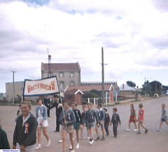 The Lower Light School marching in Mallala