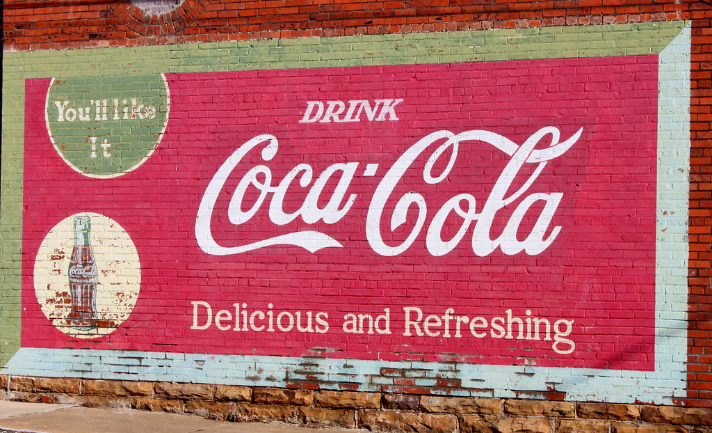 Old Coca-Cola Ad   Old ads painted on brick walls, like this