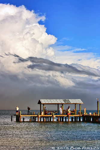 ocean sky clouds docks florida fishingpier pineisland bokeelia bocilla