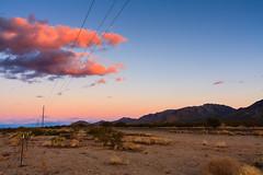 pink clouds in Arizona