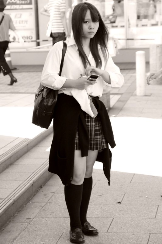 High school Girl and Mobile Phone