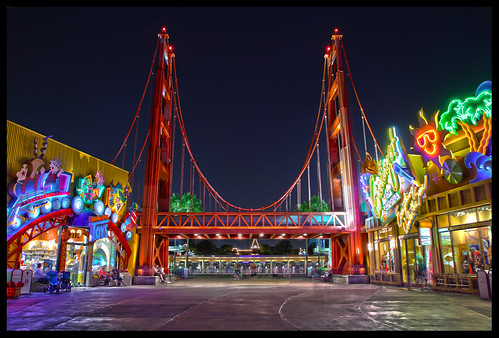 california bridge night golden gate disneyland entrance disney adventure explore 7d walt hdr efs1755mmf28isusm