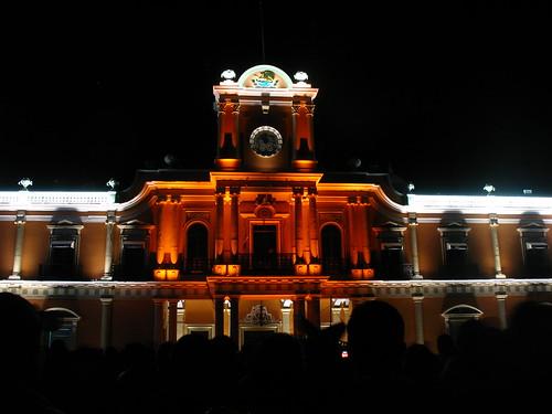 Palacio de Gobierno en la noche del grito