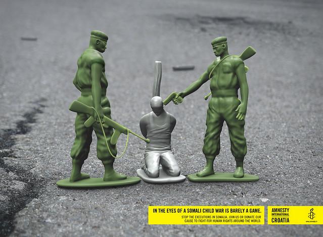 Amnesty International: War is barely a game
