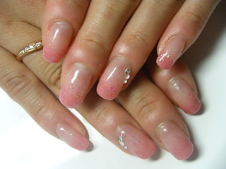 gel nail simple airblush effect  negril nail art  flickr