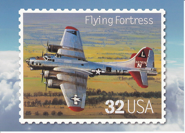 USPS Classic American Aircraft Flying Fortress Postcard