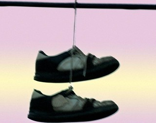 Emailing: Old Shoes Hanging 045300