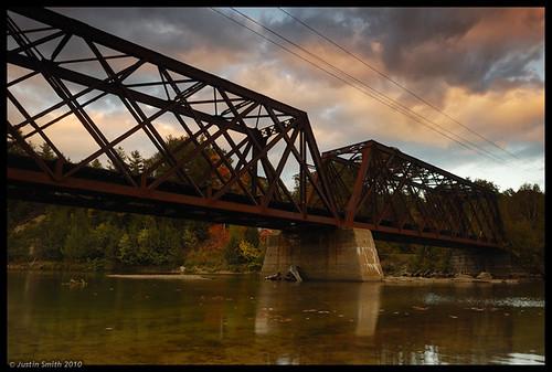 sunset newhampshire nikond50 railbridge pemi pemigewassetriver justinsmith thorntonnh leefilters nikon1735mmf28