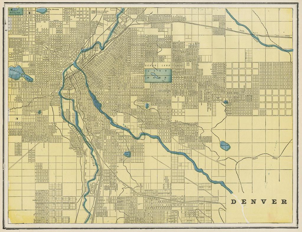 Denver Street Map, 1887 | tdalemapco | Flickr on