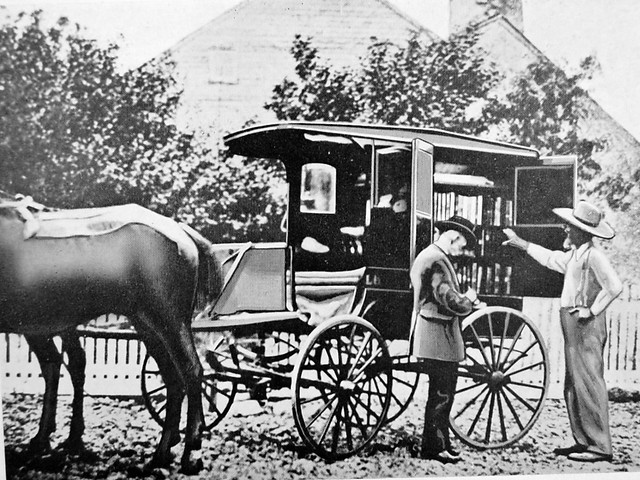 Bookmobile horse and cart (Washington County, MD)