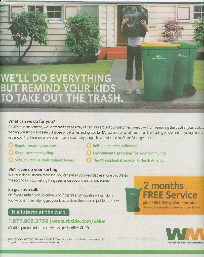Waste Management Advertisement | (Note: I do not claim owner… | Flickr