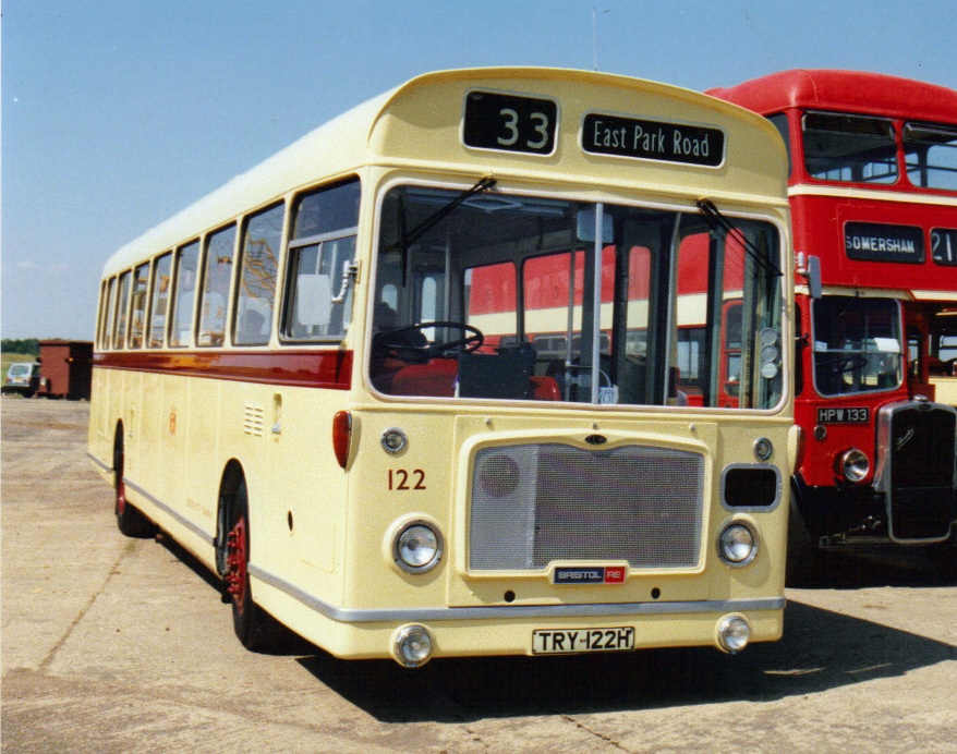 122, TRY 122H, Bristol RE (1), ECW Body B48D, 1970 (Ex-Leicester)