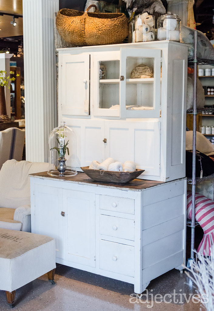 Houiser Cabinet and decor by Maine Street Vintage in Adjectives Winter Park