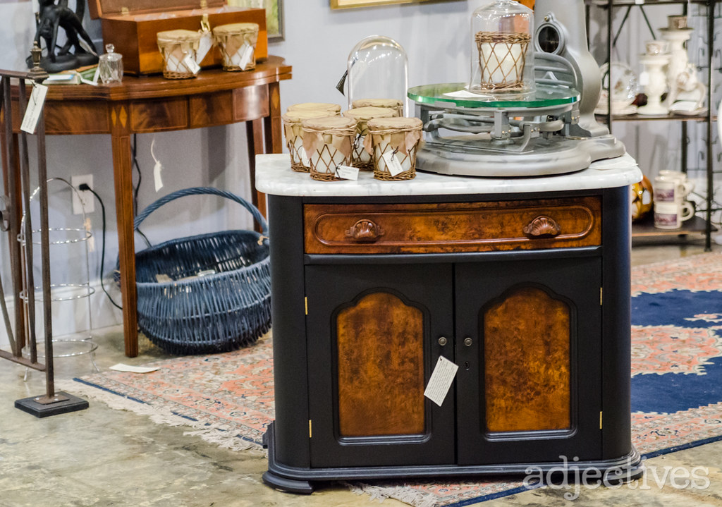 Marble top side table by Bougainvillea Lane in Adjectives Altamonte