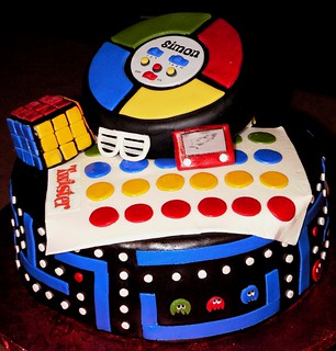 Brilliant 80S Theme Cake 4 This Cake Was For An 80S Theme Party Ev Flickr Funny Birthday Cards Online Elaedamsfinfo