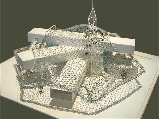 Une maquette d'étude du Centre Pompidou Metz