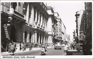 la calle ahumada en 1958, sólo en dicembre de 2016 vine a saber que es obra de Antonio Quintana
