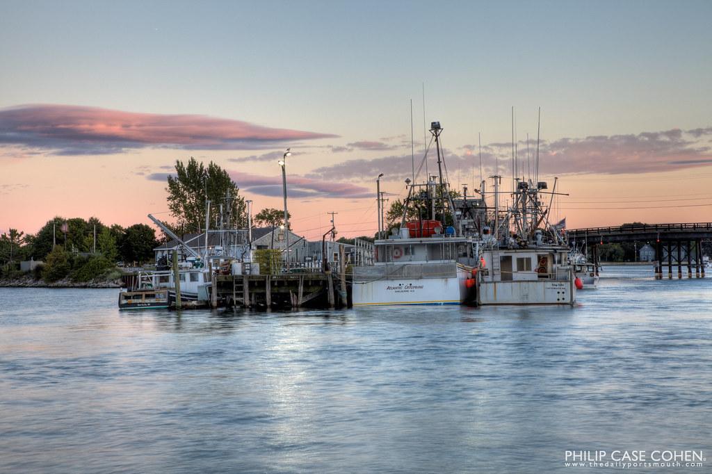 Dusk at the Fish Pier by Philip Case Cohen