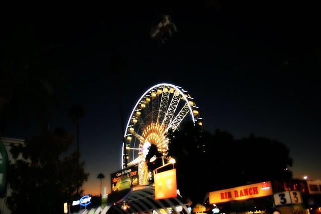 Dusk at L A County Fair, 2010