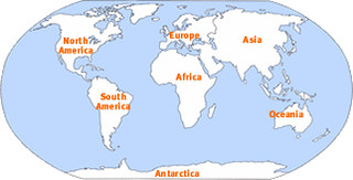 Location Map of the 7 Continents Of the World   This image h ...