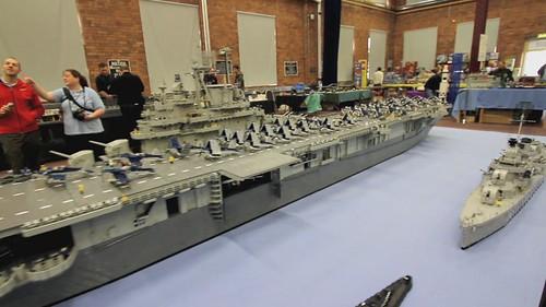 USS Intrepid Lego model video