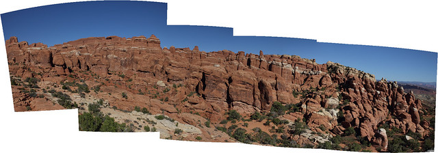 Fiery Furnace Panorama - Arches National Park (Uncropped)