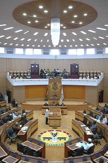 Lawmakers meet during a session of Parliament in Accra   by World Bank Photo Collection
