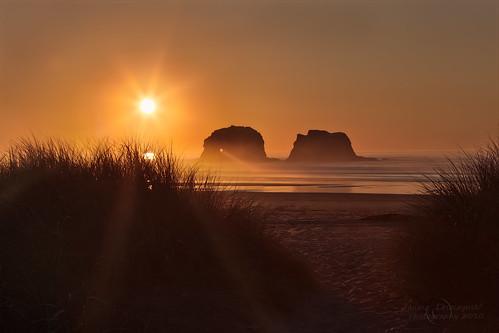 statepark sunset sea beach grass oregon coast path 101 coastal rays manual garibaldi hdr pathway rockaway partone twinrocks janusz nehalembay leszczynski 001405