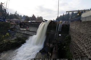 after the rainstorm - lake oswego dam in mid-repair - MG 2147.JPG   by sean dreilinger