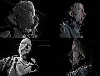 kinect point cloud | just using the saturation value (close