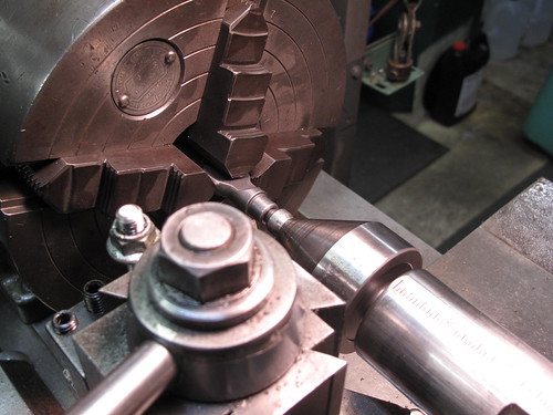 Making the drop out fit the fork blade.