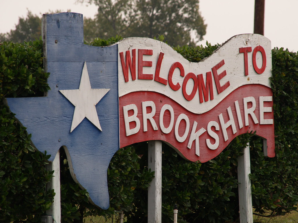 Brookshire Texas A Small Old Tx Town 2010 Buildings Roads Flickr