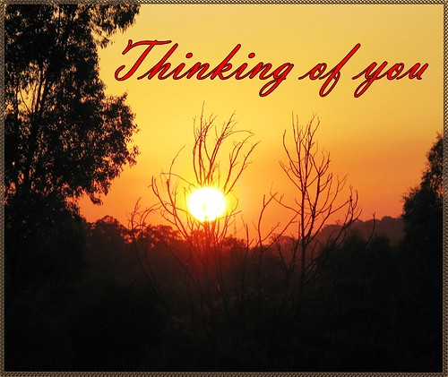 eCard: Love & Friendship - thinking of you - sunset | by you get the picture