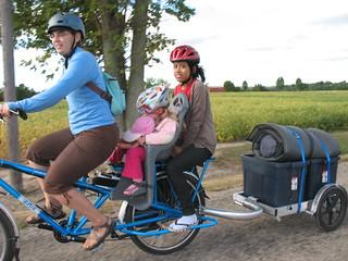 Electric Yuba Mundo camping -- on the road
