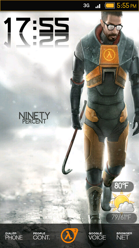 updated my half life 2 android theme a bit  changed the do