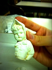 Today's #terrysdis artifact: a porcelain doll or figurine, mid-19th century.
