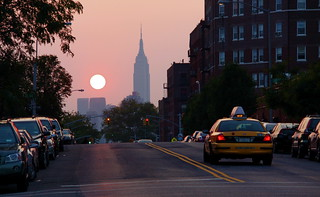 Sunset, Taxi & Empire State Building - Sunnyside, Queens | by ChrisGoldNY