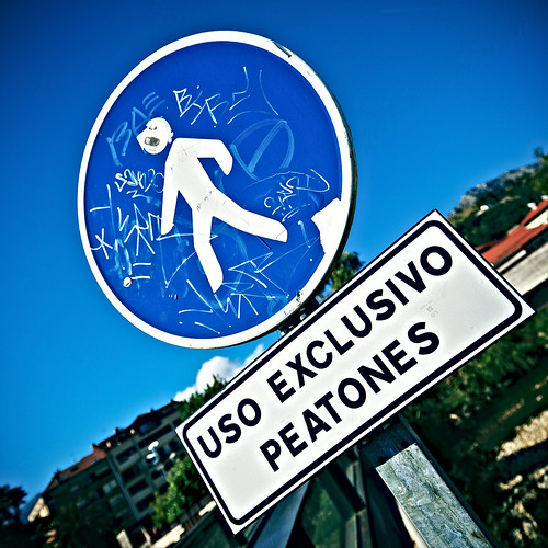 Pedestrians only sign | by Tomás Fano