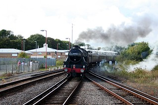 44932 brings the train into Weymouth   by TruckinTim
