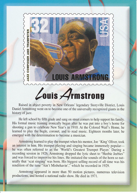 USPS Legends of American Music Louis Armstrong Postcard