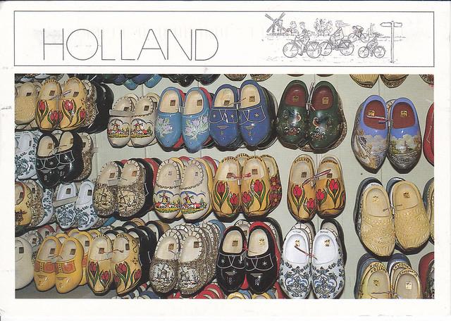 Dutch Clogs Postcard