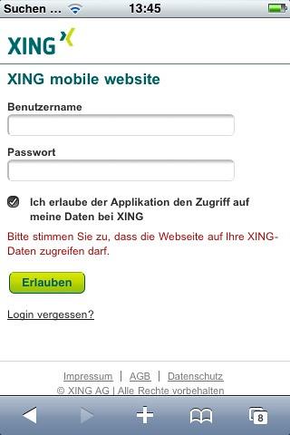 Com login xing Login with