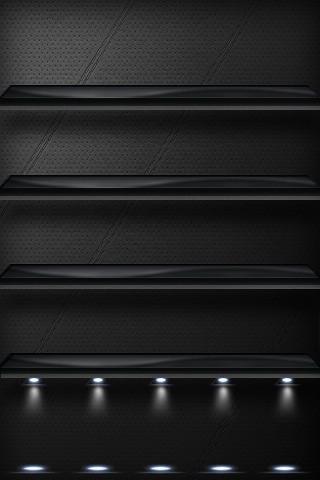 Black Light Shelves Hd Iphone Wallpaper Atownshorti Flickr